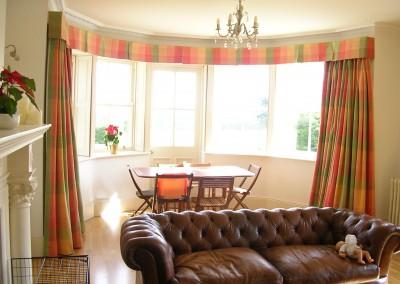 Before - curtains & pelmet