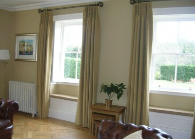 Small windows with cordinating window seats