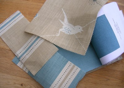 Fabric samples - child's bedroom