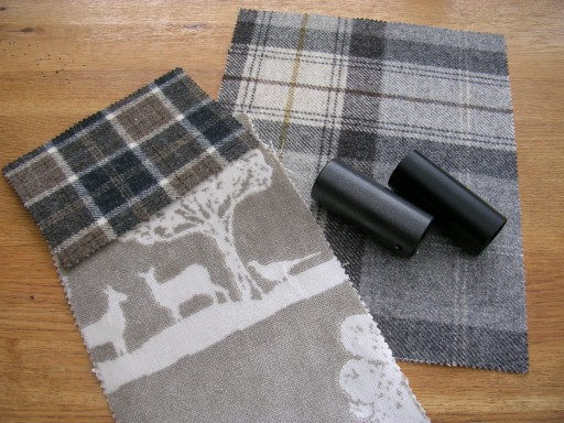 Fabric and pole samples