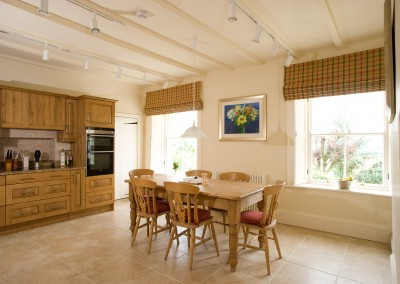 Roman blinds in kitchen