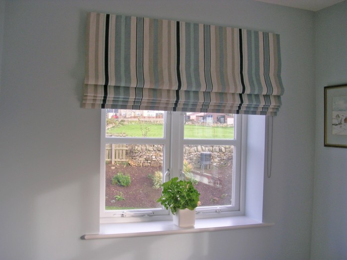 stripy roman blind