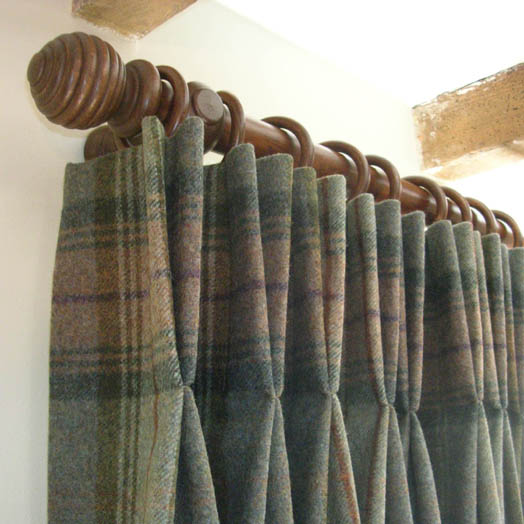 curtains with double pleats